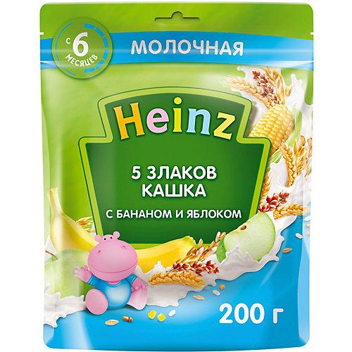 Каша Heinz молочная 5 злаков банан яблоко Омега 3, с 6 мес от Heinz