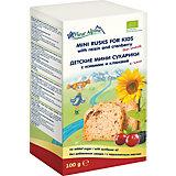 Детские пшеничные мини сухарики Fleur Alpine изюм и клюква, с 3 лет