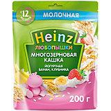 Каша Heinz йогуртная многозерновая банан клубника, с 12 мес