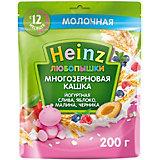 Каша Heinz йогуртная многозерновая слива яблоко малина черника, с 12 мес
