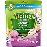 Каша Heinz Лакомая молочная овсяная яблоко черника смородина, с 5 мес