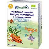 Детский чай Fleur Alpine травяной ягодно-фруктовый с липовым цветом, с 5 мес