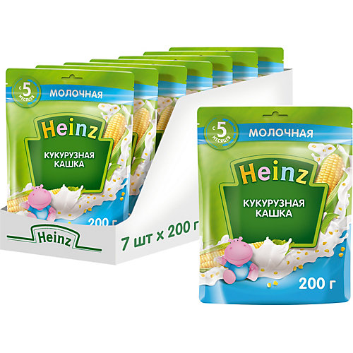 Каша Heinz молочная кукурузная Омега 3, с 5 мес от Heinz