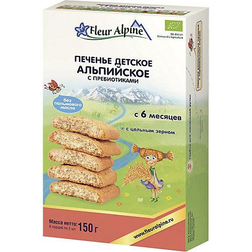 Детское печенье Fleur Alpine альпийское с пребиотиками, с 6 мес от Fleur Alpine