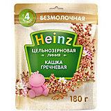 Каша Heinz цельнозерновая гречневая, с 4 мес