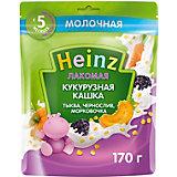 Каша Heinz Лакомая молочная кукурузная тыква чернослив морковь, с 5 мес