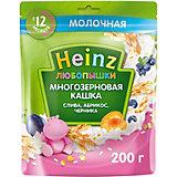 Каша Heinz молочная многозерновая слива абрикос черника, с 12 мес