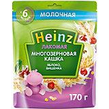 Каша Heinz Лакомая молочная многозерновая яблоко вишня с 6 мес