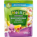 Каша Heinz Лакомая молочная многозерновая банан малина, с 6 мес