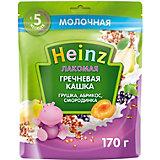 Каша Heinz Лакомая молочная гречневая груша абрикос смородина, с 5 мес