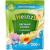 Каша Heinz молочная овсяная персик и Омега 3, с 5 мес