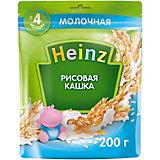 Каша Heinz молочная рисовая Омега 3, с 4 мес