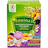 Каша Heinz Лакомая молочная рисовая абрикос чернослив, с 5 мес