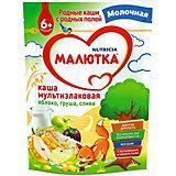 Каша Малютка молочная мультизлаковая с фруктами, с 6 мес