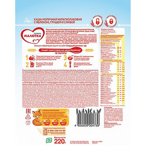 Каша Малютка молочная мультизлаковая с фруктами, с 6 мес от Малютка