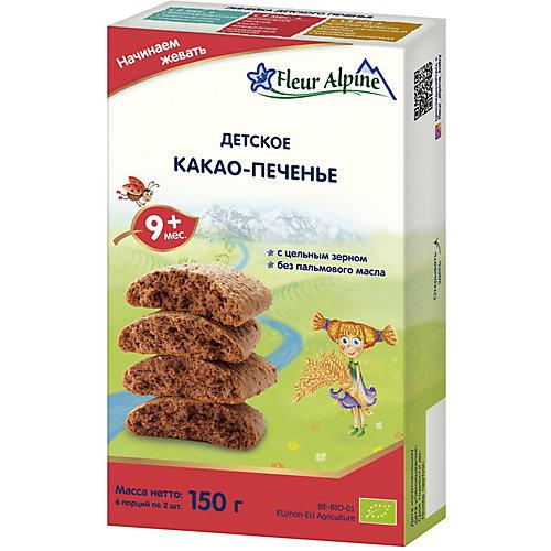 Детское печенье Fleur Alpine какао, с 9 мес от Fleur Alpine