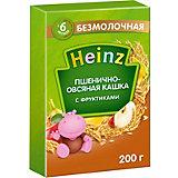 Каша Heinz пшенично-овсяная с фруктами, с 6 мес