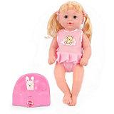 """Кукла King Time  """"Малышка в платье с медвежонком"""", 30 см"""