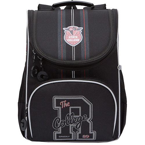 Рюкзак с мешком для обуви Grizzly - черный от Grizzly