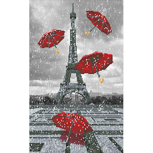 "Алмазная мозаика Фрея ""Париж. Летящие зонтики"", 32х52 см от Фрея"