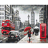 """Алмазная мозаика Фрея """"Улица дождливого Лондона"""", 40х50 см"""