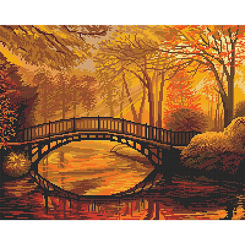 """Алмазная мозаика Фрея """"Осень в старом парке"""", 40х50 см от Фрея"""