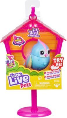 Little Live Pets Lil Bird Vogel + Vogelhaus, interaktiv - Rainbow Tweets