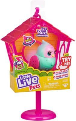 Little Live Pets Lil Bird Vogel + Vogelhaus, interaktiv - Pippa Peeps