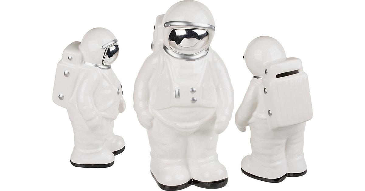 "Keramik Spardose ""Astronaut"",  21 cm weiß"