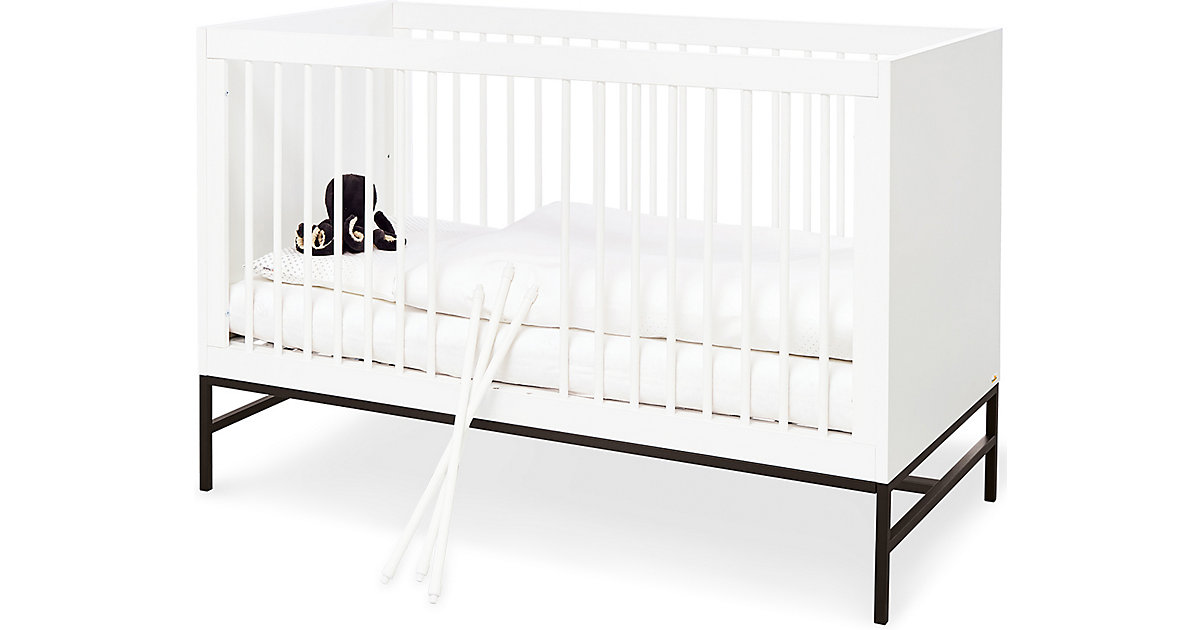 Kinderbett Steel, weiß, 70 x 140 cm