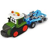Трактор Dickie Toys Happy Fendt с плугом, свет, звук, 30 см