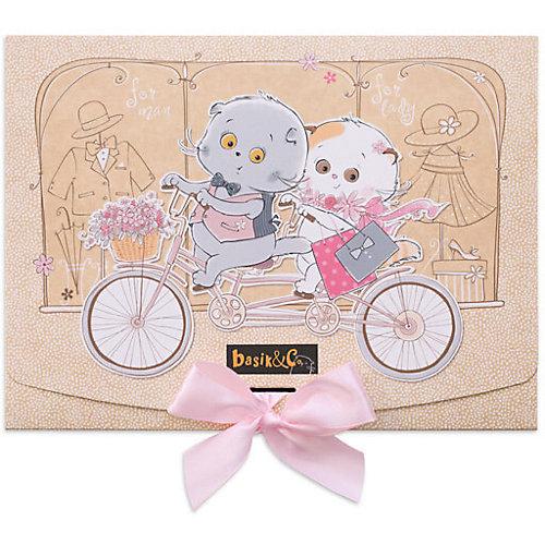 Одежда для мягкой игрушки Budi Basa Комбинезон на молнии серый к ярко-розовому цветку из фетра, 22 см от Budi Basa