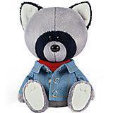 Мягкая игрушка Budi Basa Енот Лёка в красной майке и джинсовке, 15 см