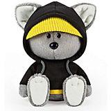 Мягкая игрушка Budi Basa Волчонок Вока в черной толстовке с капюшоном, 15 см