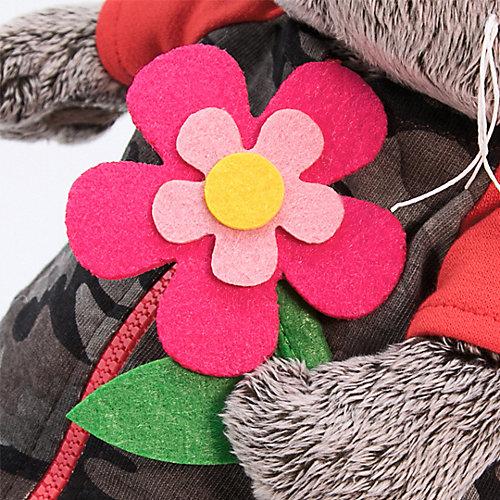 Одежда для мягкой игрушки Budi Basa Комбинезон на молнии серый к ярко-розовому цветку из фетра, 25 см от Budi Basa