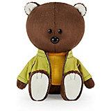 Мягкая игрушка Budi Basa Медведь Федот в оранжевой майке и курточке, 15 см