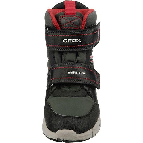 Утепленные сапоги Geox - черный/розовый от GEOX