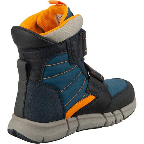 Утепленные сапоги Geox - синий/оранжевый от GEOX