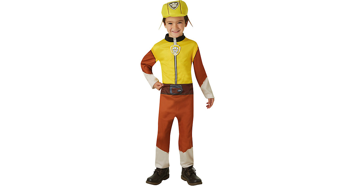 Kostüm Rubble Classic Gr. M gelb Gr. 110/116 Jungen Kinder