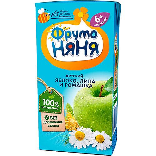 Напиток ФрутоНяНя яблоко, ромашка и липа, с 6 мес, 18 шт по 200 г от ФрутоНяня
