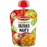 Пюре Semper яблоко и манго, с 6 мес, 12 шт