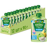 Пюре Heinz яблоко, груша, творог, с 6 мес, 12 штук