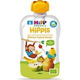 Пюре HiPP HiPPis яблоко, груша, банан, с 6 мес, 6 шт