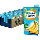 Нектар ФрутоНяНя бананы с мякотью, с 3 лет, 15 шт по 500 г