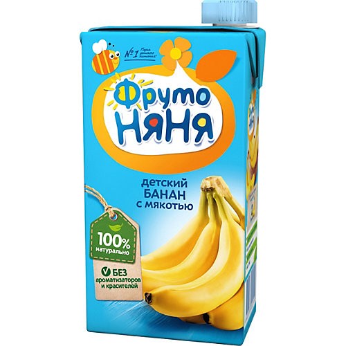 Нектар ФрутоНяНя бананы с мякотью, с 3 лет, 15 шт по 500 г от ФрутоНяня