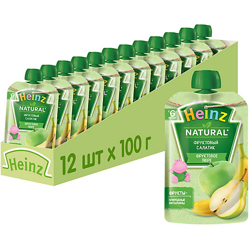 Пюре Heinz фруктовый салатик, с 6 мес, 12 штук от Heinz