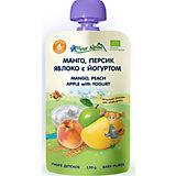 Пюре Fleur Alpine манго-персик-яблоко с йогуртом, с 6 мес, 6 штук