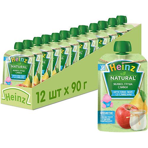 Пюре Heinz яблоко, груша, сливки, с 6 мес, 12 штук от Heinz