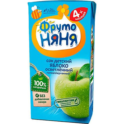 Сок ФрутоНяНя яблоко осветлённый, с 4 мес, 18 шт по 200 г от ФрутоНяня