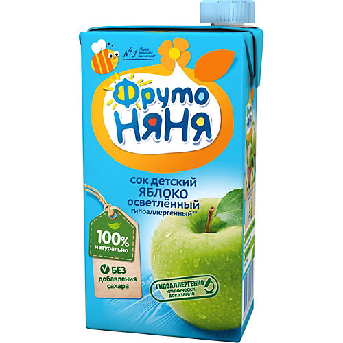Сок ФрутоНяНя яблоко, с 3 лет, 15 шт по 500 г от ФрутоНяня